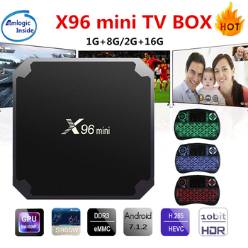 X96 mini Android TV Kutusu KD Oyuncu 17.4 Amlogic S905W Quad Core 2 GB 16 GB UHD H.265 2.4G WiFi 4 K Media Player X96mini Set üstü kutu