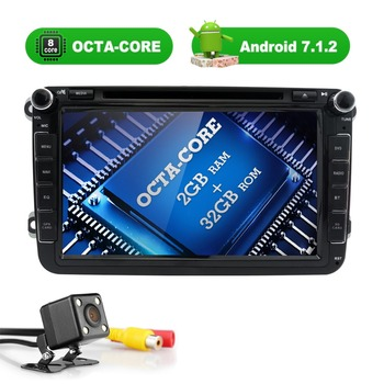 Android 7.1 8 Inç Car DVD Player VW/Volkswagen/POLO/PASSAT/Golf/TOURAN/SHARAN Quad Core Wifi 3G USB GPS Navigasyon Radyo