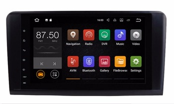 Android7.1 6.0 Iki Din 9 Inç Car DVD Player Mercedes/Benz/GL ML SıNıFı W164 X164 ML350 ML450 GL320 GL450 Wifi GPS BT radyo