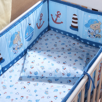 5pcs baby crib bedding set Lovely Animal Monkey giraffe Crib Bumper Set Kids bedding boy girl bedding bumpers cot bed protector