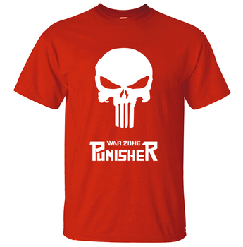 Punisher Erkek T Gömlek 2018 Yaz Erkekler Tee Gömlek pamuk Erkekler T-Shirt Superman Punisher Kafatası T Shirt Hip Hop Tops Tees
